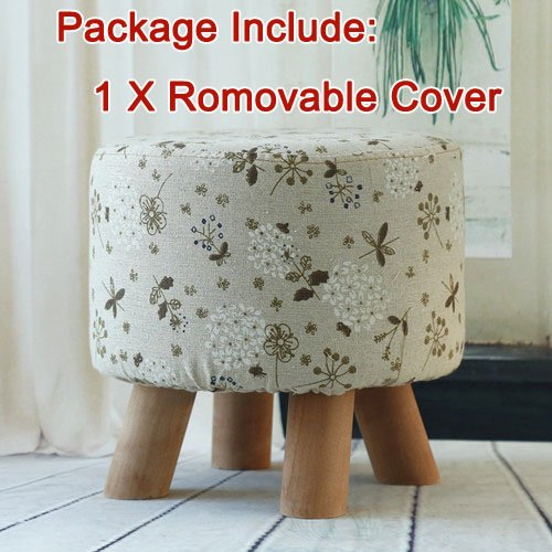 [Sino Banyan Feet Stool Removable Cover,1Pcs,Floret] (Hippie Inflatable Guitar)
