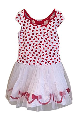 Biscotti Girls Ballerina Tutu Dress, Red/White, XS ( 2T/3T)