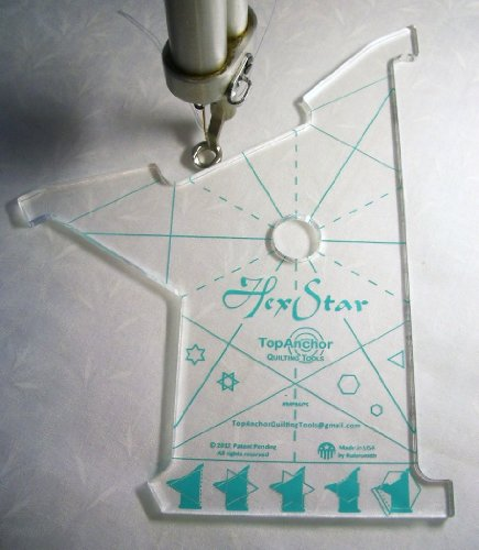HexStar Longarm Quilting Template - 1/4'' laser cut acrylic by TopAnchor Quilting Tools