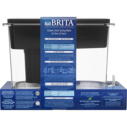 Brita Extra Large 18 Cup UltraMax Water Dispenser and Filter - BPA Free - Black by Brita (Image #2)