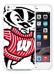 Newest iPhone 6 Plus/iPhone 6S Plus TPU Screen Case ,Unique And Fashionable Designed Case With NCAA Wisconsin Badgers 8 White iPhone 6 Plus/iPhone 6S Plus 5.5 Inch TPU Phone Case