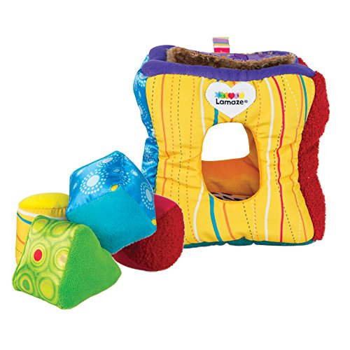 LAMAZE - Soft Sorter Toy, Help Baby Play and Learn to Match and Sort with Soft Shapes, Bright Colors, Fun Textures, 9 Months and Older (Lamaze Take Along Toy)