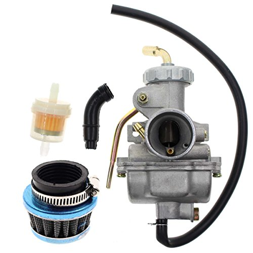 Carbhub PZ20 Carburetor for Kazuma Baja 50cc 70cc 90cc 110cc 125cc TaoTao 110B NST SunL Chinese Quad 4 stroke ATV 4 wheeler Go kart Dirt Bike Honda CRF50F XL75 CRF80F XR50R with Air Fuel Filter (Ssr 110 Carburetor)