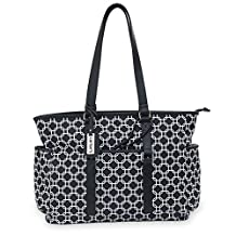 Carter's CA11908 Studio Tote Diaper Bag Black & White Geo Print