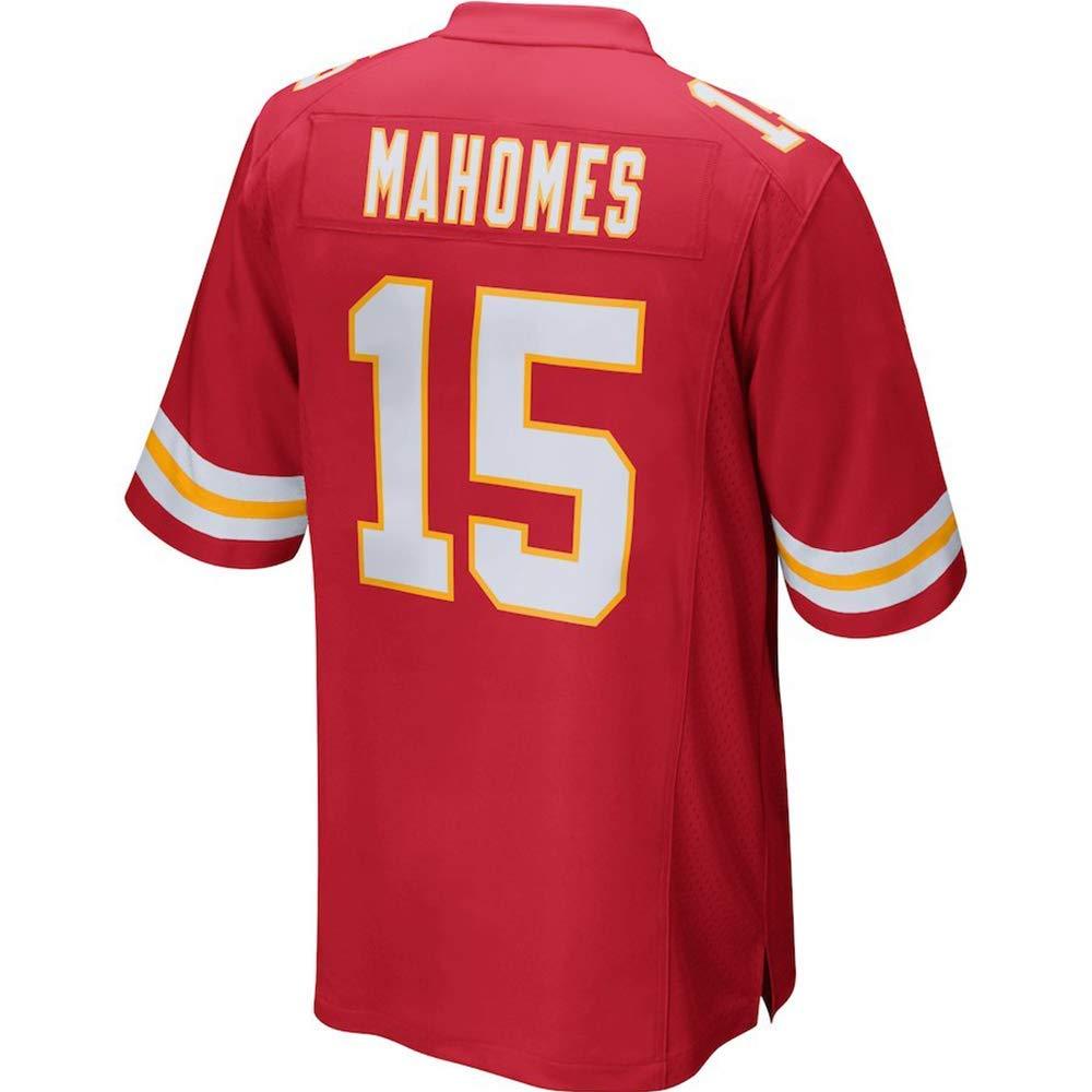 Mens Patrick Mahomes #15 Home Jersey Fans Shirt Red