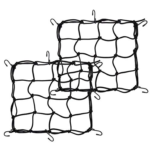 YTJSFH 2 Bicycle Rear Frame net Cover Bicycle Luggage Cover Rubber Band Elastic Luggage net Motorcycle net Bag Helmet net 40cm 40cm