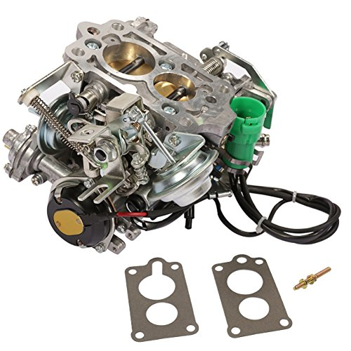 Partol Carburetor for Toyota TOY-505 1981-1987 2 Barrel 22R Engine Carb with Green Round Plug, Automatic Choke (35290/2.4L 2366cc / C4036)