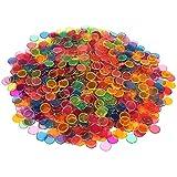 "Plastic Magnetic Bingo Chips - Metal Edge - Mix Color - 1001pcs - 3/4"" - Available in A Reusable Storage Bag"
