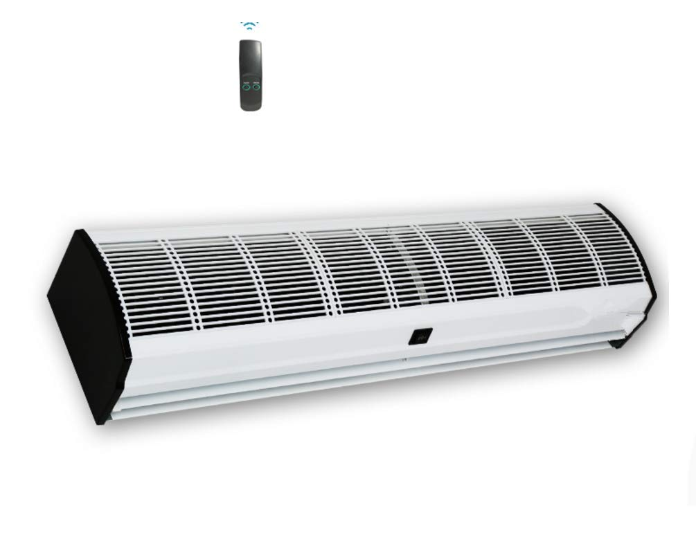 KUNHEWUHUA 60'' AirCurtainFlyFan Super Power 1600 CFM Commercial Indoor Air Curtain with Heavy Duty Door Switch Fan Fly Remote Control (60Inch) by KUNHEWUHUA