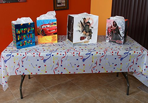 Home-X Plastic Party Table Cover. Tablecloth for Parties and Birthdays (54