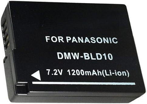 DSTE/® DMW-BLD10E Li-ion Battery Compatible for Panasonic Lumix DMC-G3 DMC-GF2 DMC-GX1 Camera as Panasonic DMW-BLD10 DMW-BLD10PP DE-A93B