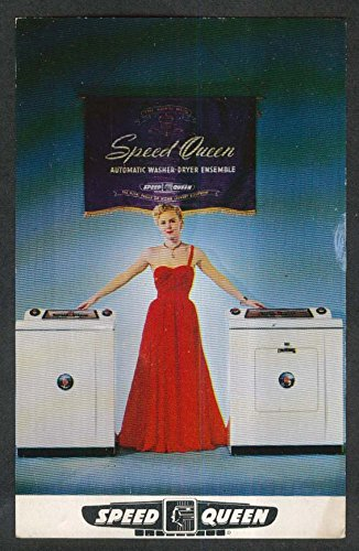 Speed Queen Automatic Washer-Dryer Ensemble postcard 1950s