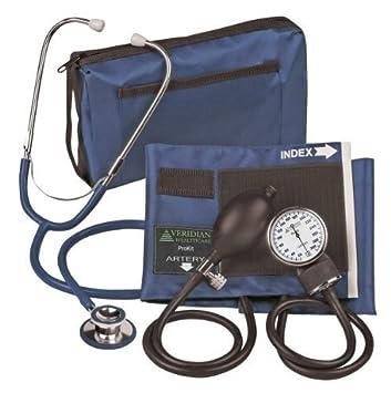 Veridian 02 - 12702 - Tensiómetro aneroide con estetoscopio de doble cabezal, Kit, adulto, color azul marino por Veridian Healthcare LLC: Amazon.es: Salud y ...