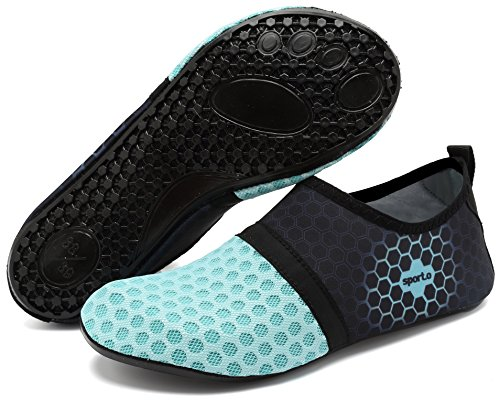 Strand Damen für Schwimmen Sportschuhe Pool Aqua Socken Barfuß Herren L Wasser üben blau adituob T6gYqfx