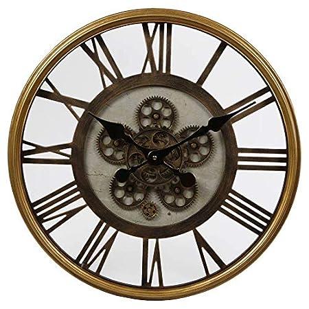 Lhéritier Du Temps Grande Horloge Ronde Pendule Murale