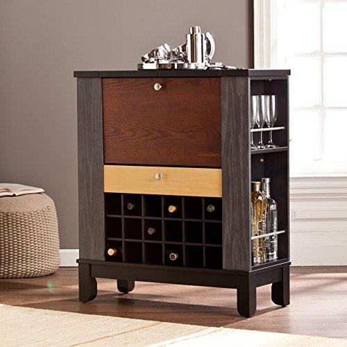 Ruby Colorblock Rubberwood Wine/Bar Cabinet