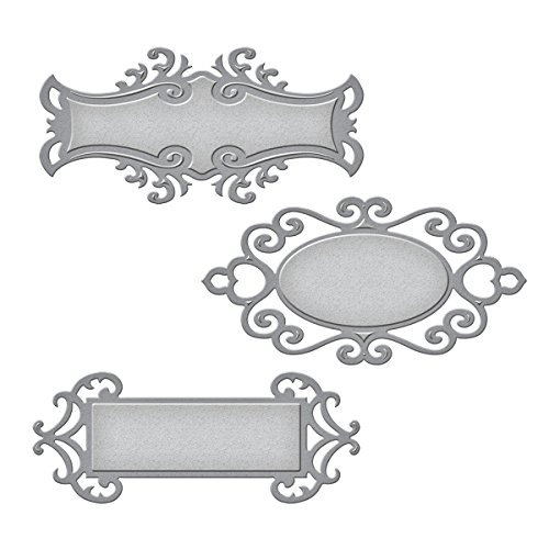 (Spellbinders S5-030 Shapeabilities Fancy Tags Two Etched/Wafer Thin Dies)