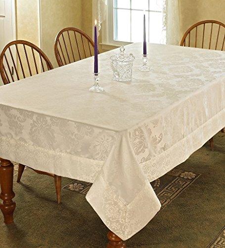Violet Linen Vintage Damask Design Oblong/Rectangle Tablecloth, 54