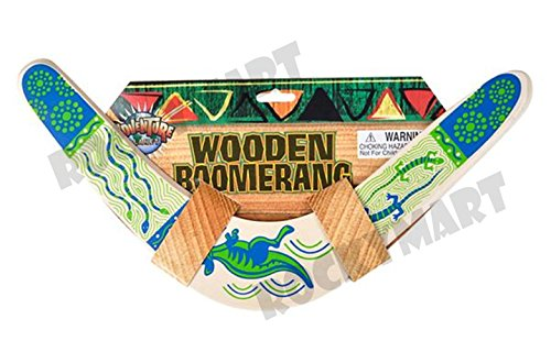14 5 Wooden Boomerang Green Accents