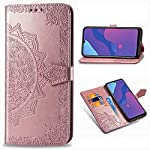 ClickCase Queen Series, Faux Leather Flower Embossing Wallet Flip case Magnetic Closure Flip Cover for Samsung Galaxy…