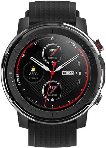Amazfit Stratos 3 - Smartwatch Fitness, 19 Modos Deportivos, 3 Modos GPS, 70 días Batería (Ahorro), Sensor BioTracker, GPS Globass Beidou & Galileo, ...