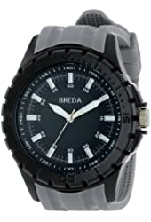 Breda Men's Harvey Thick Black Bezel Rubber Band Watch