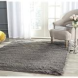 Safavieh FSS235D-8 Faux Silky Sheepskin Grey Area Shag Rug (8' x 10')