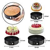 GEEKHOM Springform Pan Cake Baking Pans Set 9