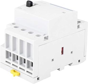 Liukouu BCH8-63M 230V 4P 63A Contactor modular de CA para el hogar con interruptor de control manual 4NC