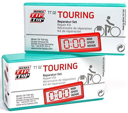 Rema Tip Top TT02 Touring Bicycle Tube Repair Patch Kits #22 MULTIPACK - Rema Tip