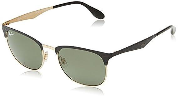 615cb415c73a Amazon.com: Ray-Ban RB3538 Sunglasses Top Matte Black On Shiny Blk/Dark  Green 53mm & Cleaning Kit Bundle: Clothing