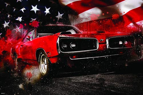 American Classic Car Framed Print Picture Vintage Automobile Photo Artwork