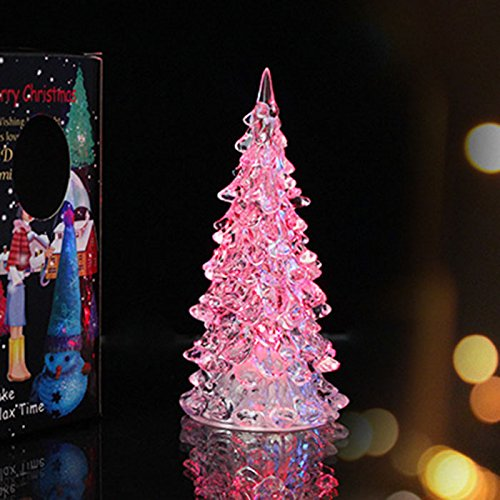 Huayang conception cristal arbre de no l color led - Decoration de noel amazon ...
