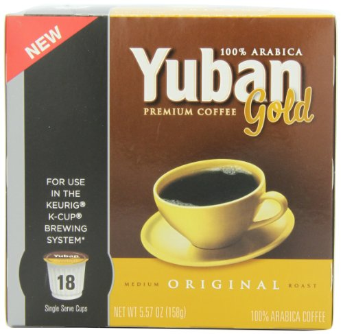 Yuban Gold Original Coffee Medium Roast K Cup Pods 18
