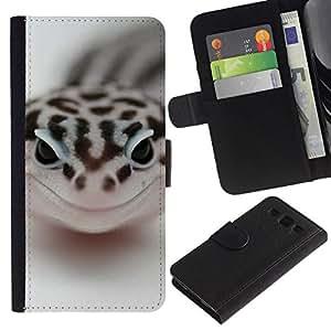 NEECELL GIFT forCITY // Billetera de cuero Caso Cubierta de protección Carcasa / Leather Wallet Case for Samsung Galaxy S3 III I9300 // Feliz Serpiente