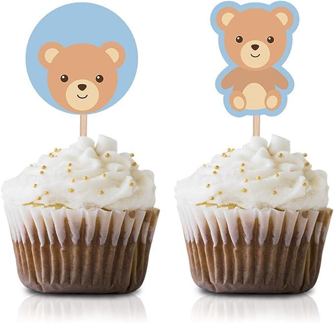 lemon Quantity 50. Teddy cupcake toppersdecorations cream /& kraft brown pastel blue Cupcake picks Pastel pink 50 teddy bears