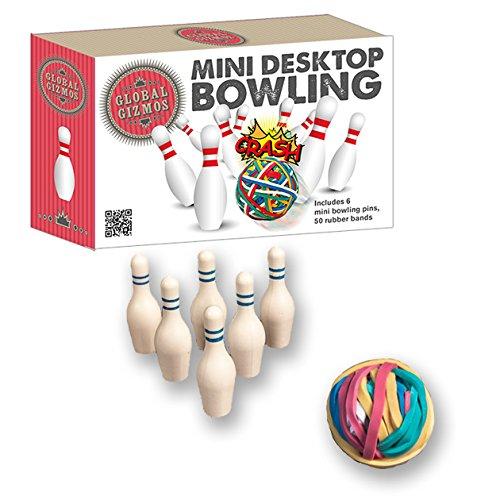 Global Gizmos Fun Mini Desktop 10-Pin Bowling Game