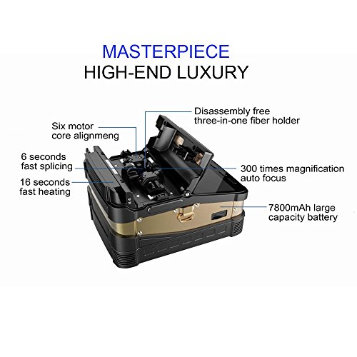 Optic Fiber Fusion Splicer with Core Alignment Auto Focus and Six Motors industrial quad-core CPU by YM (Image #1)