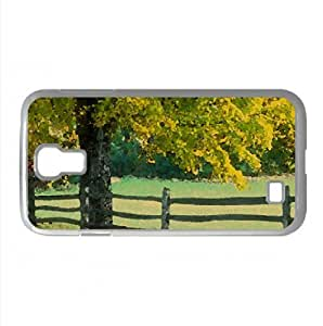Rural Vermont Watercolor style Cover Samsung Galaxy S4 I9500 Case (Landscape Watercolor style Cover Samsung Galaxy S4 I9500 Case)