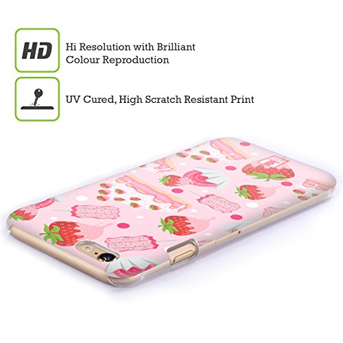 Head Case Designs Fragola Delizie Cover Retro Rigida per Apple iPhone 4 / 4S