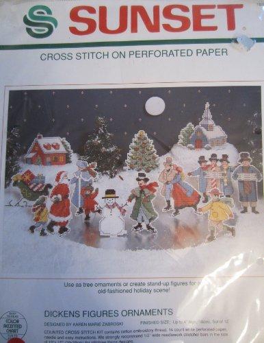 (Dickens Figures Ornaments Cross Stitch Kit )