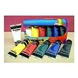 Premiere Acrylic Artist Paint Set- Includes Six HUGE 200 ml (6.78 fluid ounce) Tubes of Paint! Great Primary Basic Colors
