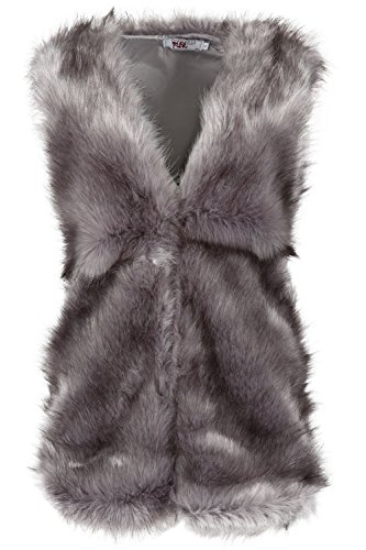 Oops Outlet Womens Ladies Full Faux Fur Winter Warn Sleeveless Waist Coat Jacket Gilet Vest by Oops Outlet (Image #1)