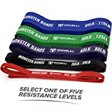 Pull Up Assist Band, Premium Stretch Resistance Band - Mobility Band - Powerlifting Bands - Extra Durable and Heavy Duty - Works with Any Pullup Station - Sold Individually (#5 Blue - 65 to 175 lb)