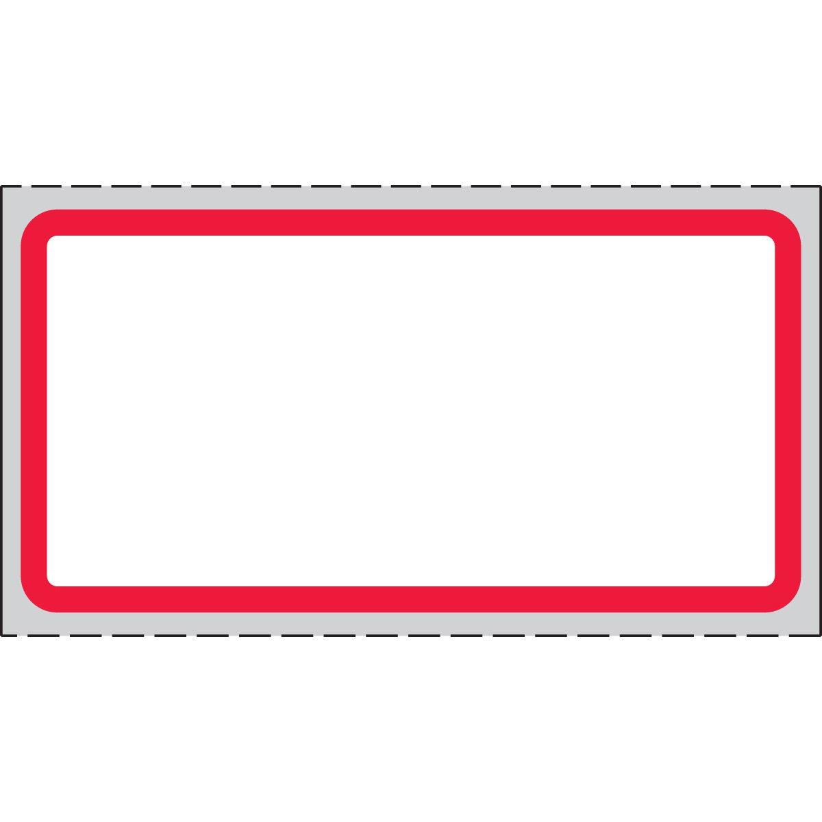 PDC Healthcare THERMDRB3 Paper Labels for Thermal Printers, Permanent Adhesive, Direct Thermal Labels, Compatible with Zebra, Intermec, Datamax and Other Printers, 2'' Width x 1'' Length, 3'' Core Size, White with Red Border (Case of 40000)