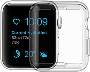 Toosunny Apple Watch Series 1 Case, iphone Watch 1 TPU Screen Protector All-around Protective 0.3mm Hd Clear Ultra-thin Cover (for Apple Watch Series 1 38mm)