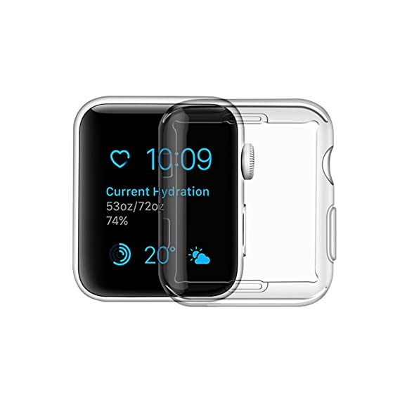 check out 53499 42b67 Toosunny Apple Watch Series 3 Case, Iphone Watch 3 TPU Screen Protector  All-around Protective 0.3mm Hd Clear Ultra-thin Cover (for Apple Watch  Series ...