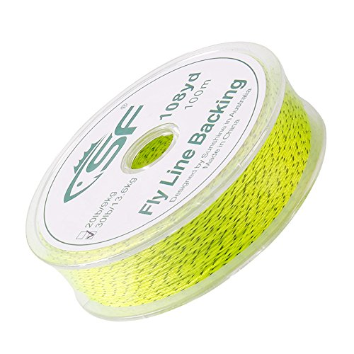 - SF Braided Fly Fishing Trout Line Backing Line 30LB 100m/108yds Flour Yellow/Black