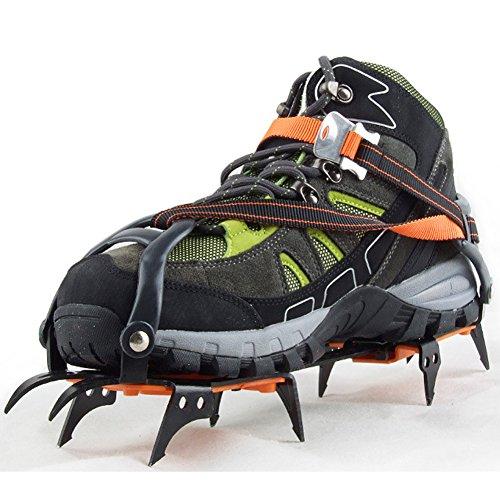 (OSOPOLA eForCrazy 10 claws Strape Type Crampon Anti-slip Hiking Snow Ice Walking Outdoor Crampons)