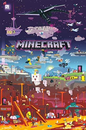 - Trends International Minecraft-World Mount Bundle Wall Poster 22.375